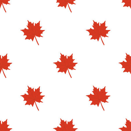 Autumn seamless patterns. Fall leaves. Vector illustration EPS 写真素材 - 155845444