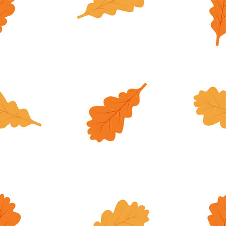 Autumn seamless patterns. Fall leaves. Vector illustration EPS  イラスト・ベクター素材