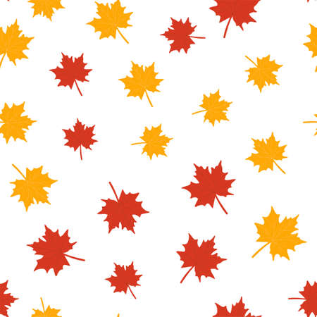 Autumn seamless patterns. Fall leaves. Vector illustration EPS 写真素材 - 155845450