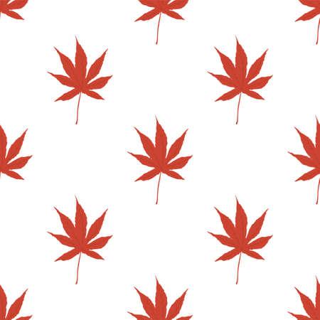 Autumn seamless patterns. Japan Fall leaves. Vector illustration EPS  イラスト・ベクター素材