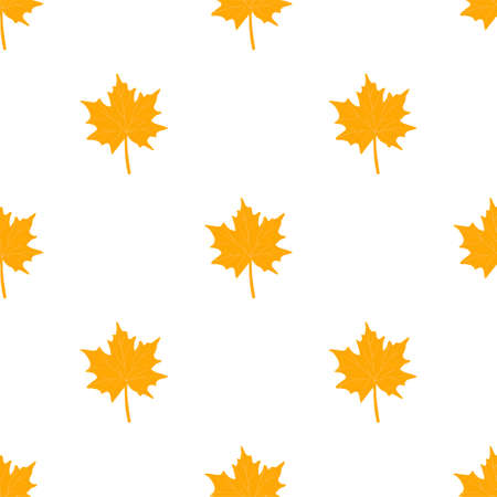 Autumn seamless patterns. Fall leaves. Vector illustration EPS 写真素材 - 155845454