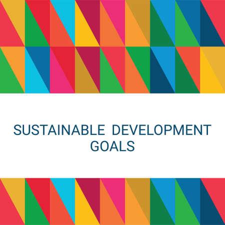 Sustainable Development Goals. Abstract Vector Illustration 写真素材 - 155484399