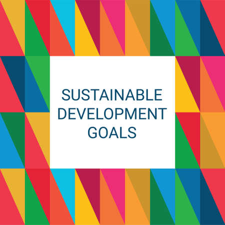 Sustainable Development Goals. Abstract Vector Illustration 写真素材 - 155484404