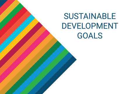 Sustainable Development Goals. Abstract Vector Illustration 写真素材 - 155484436