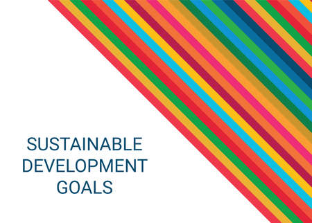 Sustainable Development Goals. Abstract Vector Illustration 写真素材 - 155484444