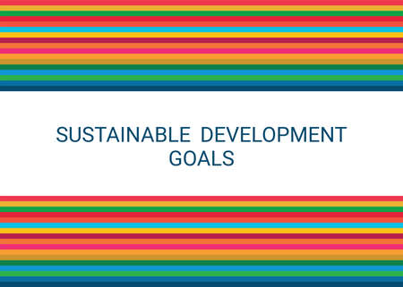 Sustainable Development Goals. Abstract Vector Illustration 写真素材 - 155484509
