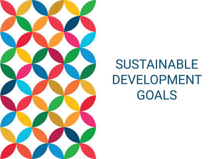 Sustainable Development Goals. Abstract Vector Illustration 写真素材 - 155484655