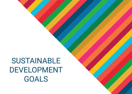 Sustainable Development Goals. Abstract Vector Illustration 写真素材 - 155484661