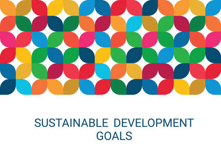Sustainable Development Goals. Abstract Vector Illustration 写真素材 - 155484664