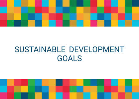 Sustainable Development Goals. Abstract Vector Illustration EPS 写真素材 - 155553497