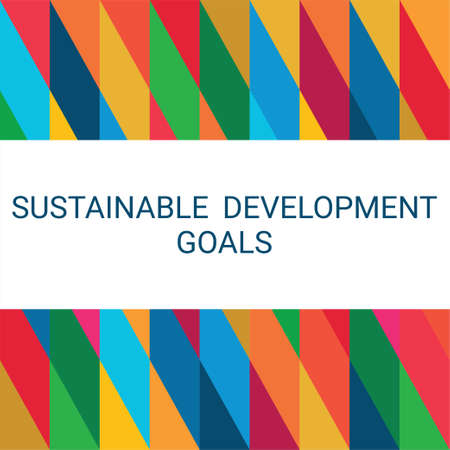 Sustainable Development Goals. Abstract Vector Illustration 写真素材 - 155536339