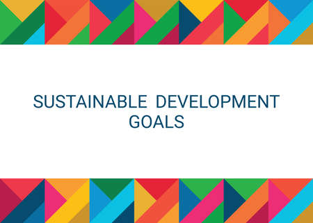 Sustainable Development Goals. Abstract Vector Illustration 写真素材 - 155540683