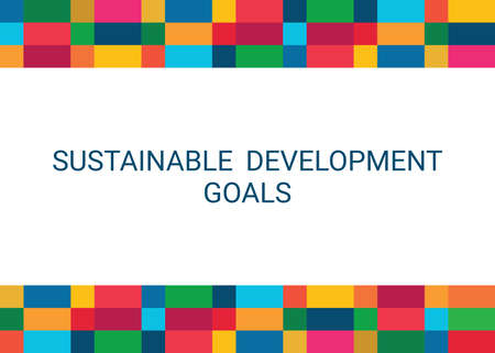 Sustainable Development Goals. Abstract Vector Illustration 写真素材 - 155540723