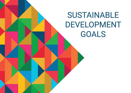 Sustainable Development Goals. Abstract Vector Illustration 写真素材 - 155540730