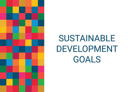 Sustainable Development Goals. Abstract Vector Illustration 写真素材 - 155553501