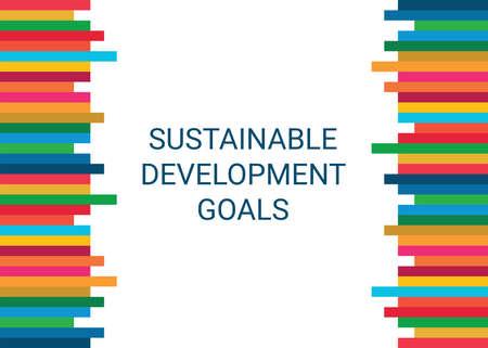Sustainable Development Goals. Abstract Vector Illustration EPS
