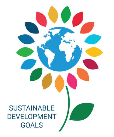Sustainable Development Goals. Abstract Vector Illustration EPS 写真素材 - 155594195