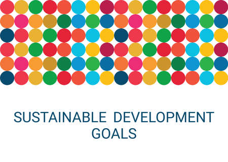 Sustainable Development Goals. Abstract Vector Illustration EPS 写真素材 - 155593787