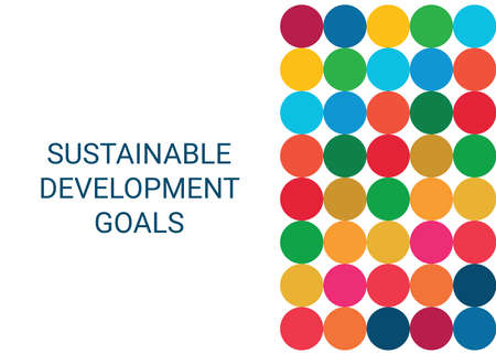 Sustainable Development Goals. Abstract Vector Illustration EPS 写真素材 - 155594035