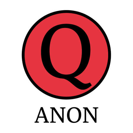 QAnon conspiracy theory. President and his supporters. Vector Illustration EPS 写真素材 - 155701964