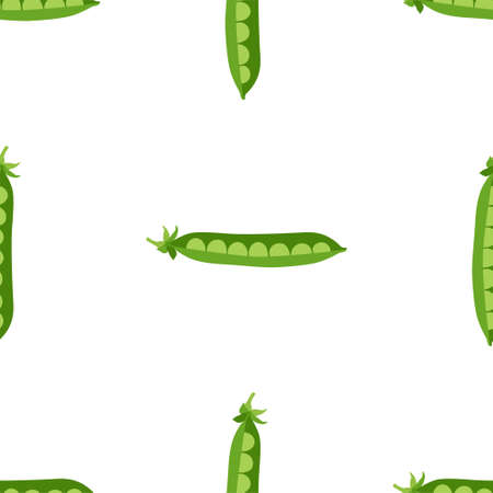 Green Peas. Fresh and healthy food.  イラスト・ベクター素材