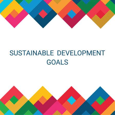Sustainable Development Goals Illustration  イラスト・ベクター素材