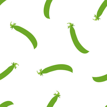 Green Peas. Fresh and healthy food. Seamless Vector Patterns
