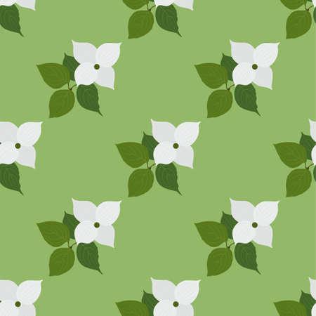 Dogwood Seamless flower pattern background.  イラスト・ベクター素材
