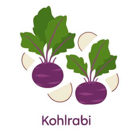 Vegetable Cabbage Kohlrabi. Fresh and healthy food.