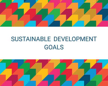 Sustainable Development Goals. Abstract Vector