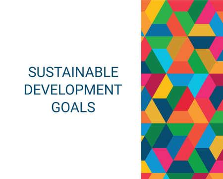 Sustainable Development Goals. Abstract Vector Illustration