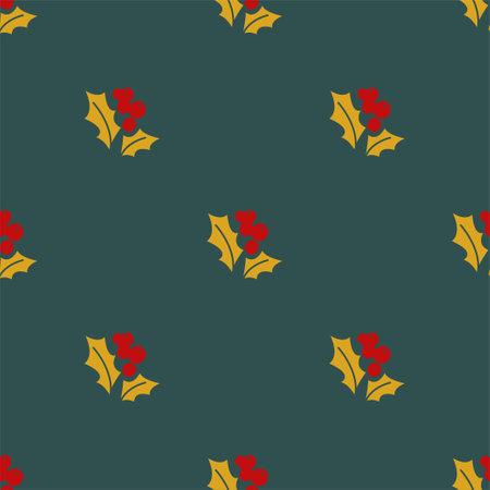 Christmas mistletoe. seamless pattern