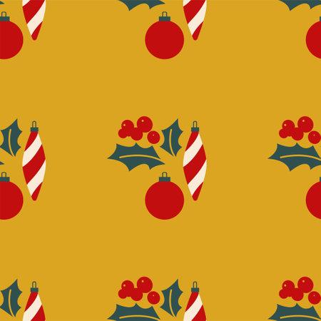 Christmas mistletoe and toys