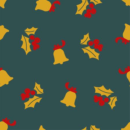 Christmas mistletoe and Golden bell.