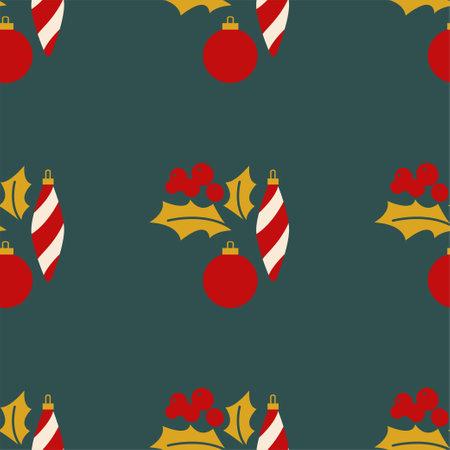Christmas mistletoe and toys.