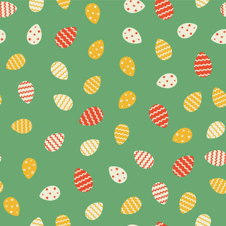 Easter eggs ornaments. Vector seamless pattern. Background with eggs