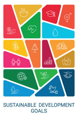 Colorful Sustainable Development Goals set design