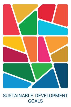 Colorful Sustainable Development Goals design