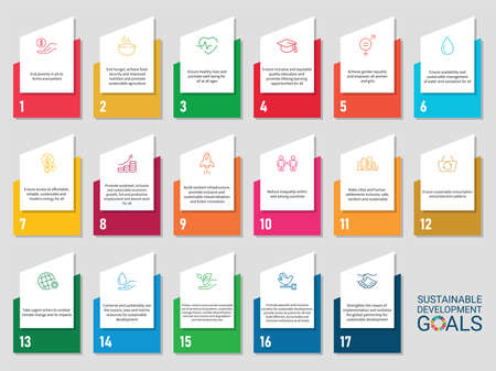 Icons Set .Sustainable Development Goals. Vector. White background