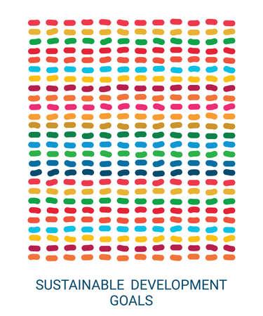 Sustainable Development Goals. Vector Illustration EPS. White background Illusztráció