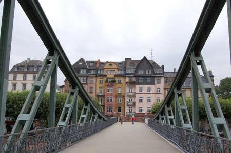 frankfurt: Through the bridge. Frankfurt.