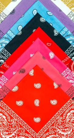 vermeil: background from varicolored cotton bandannas