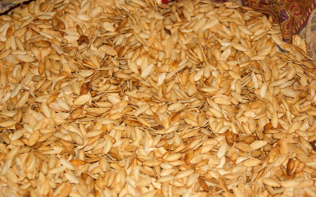 the local characteristics: background from pumpkin seeds cooked in milk characteristic of Cappadocia