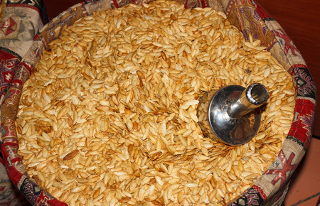 characteristic: pumpkin seeds cooked in milk characteristic of Cappadocia Stock Photo