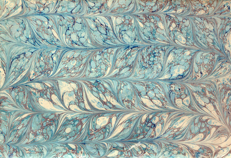 Traditionellen türkischen Ebru-Technik. Malerei auf dem Wasser, gefolgt von Papierabzügen Standard-Bild - 39098193