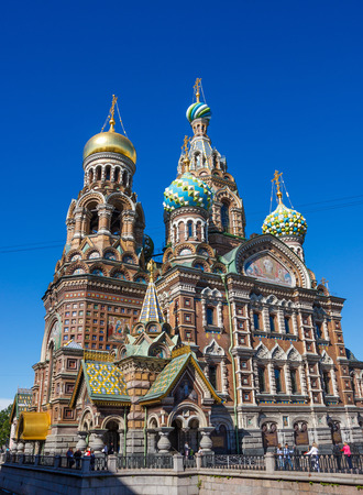 church dome: Church of The Savior On Blood in St. Petersburg, Russia wire in the picture