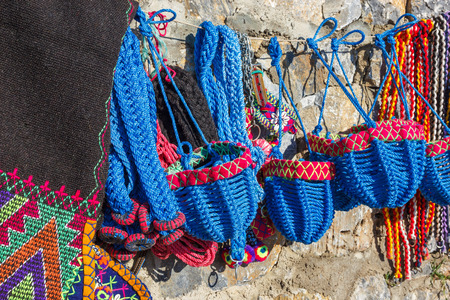 dangling: ammunition for fighting camels - dangling muzzle and blanket. Camel fights, popular entertainment  on the Aegean coast of Turkey (Kusadasi)