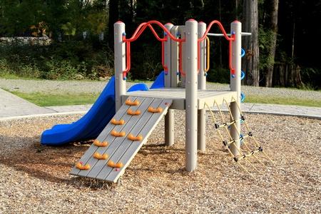 land slide: Slide at playground Stock Photo
