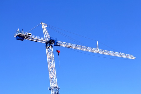 image of isolated crane at the construction side
