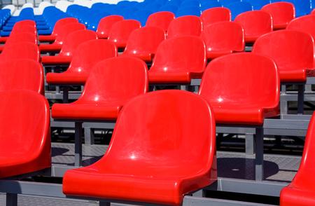 Plastic seats on stadium